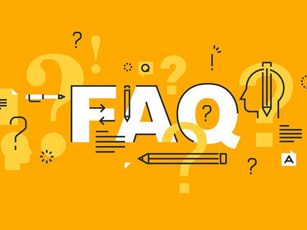صفحه پرسش های رایج برای سایت شرکت