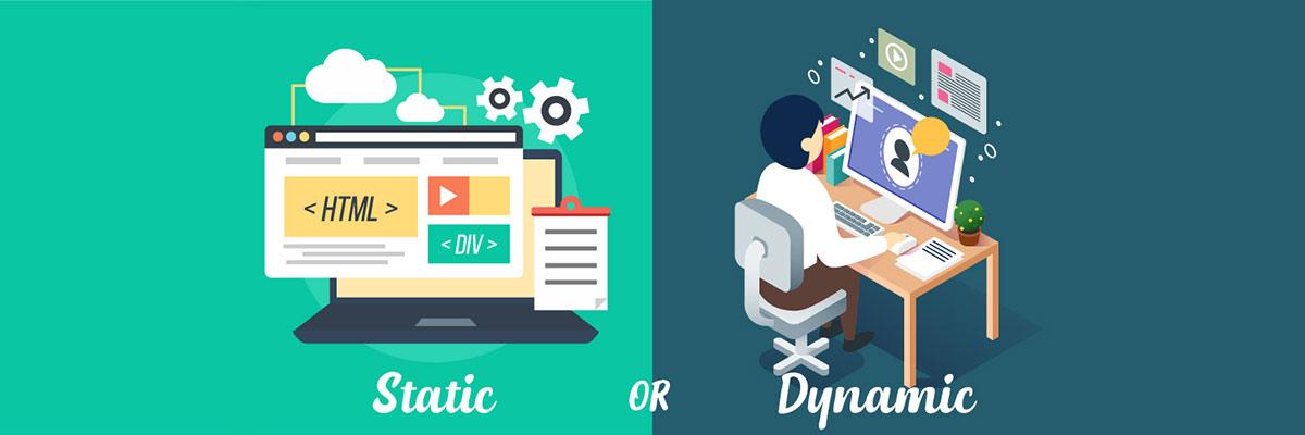 تفاوت طراحی سایت داینامیک و استاتیک